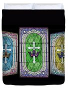 Stained Glass Beauty Duvet Cover