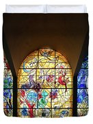 Stained Glass Chagall Windows Duvet Cover
