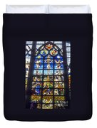 Stained Glass Crucifixion Duvet Cover