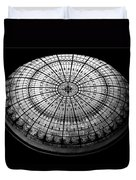 Stained Glass Dome - Bw Duvet Cover