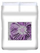 Stained Glass Flower With Purple Stripes Duvet Cover