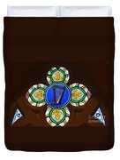 Stained Glass Harp Duvet Cover