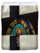 Stained Glass In A Tomb Duvet Cover