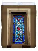 Stained Glass In Redeemer Lutheran Duvet Cover