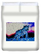 Stained Glass Leopard 1 Duvet Cover