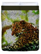 Stained Glass Leopard 2 Duvet Cover