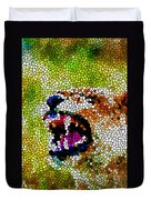 Stained Glass Leopard 3 Duvet Cover