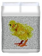 Stained Glass Little Chicken Duvet Cover