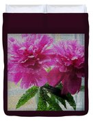 Stained Glass Peonies Duvet Cover
