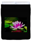 Stained Glass Pink Lotus Flower   Duvet Cover by Lanjee Chee