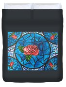 Stained Glass Roses Duvet Cover