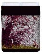 Stained Glass  Sakura Tree Duvet Cover