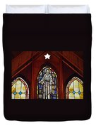 Stained Glass Saviour Duvet Cover