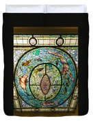 Stained Glass Skylight In Fordyce Bathhouse Duvet Cover