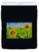 Stained Glass Sunflowers Duvet Cover