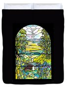 Stained Glass Tiffany Holy City Memorial Window Duvet Cover
