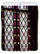 Stained Glass Window In Saint Paul's Episcopal Church-1882 In Tombstone-az Duvet Cover