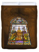 Stained Glass Window In Seville Cathedral Duvet Cover
