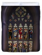 Stained Glass Window The Huntington Library Duvet Cover
