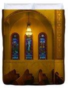 Stained Glass Windows At St Sophia Duvet Cover