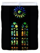 Stained Glass Windows - Sagrada Familia Barcelona Spain Duvet Cover