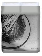 Stairs At The Fort Gratiot Light House Duvet Cover
