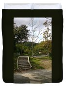 Stairs In The Park Duvet Cover