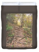 Stairs Into The Forest Duvet Cover