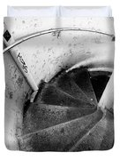 Stairs Leading Downward Into The Catacombs Of Paris France Duvet Cover