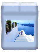 Stairs To The Blue Door Duvet Cover