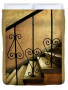 Stairs With Ornamented Handrail Duvet Cover