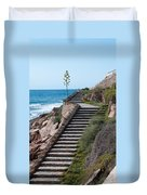 Stairway And Agave On Top. Duvet Cover