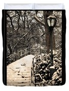 Stairway In Central Park On A Stormy Day Duvet Cover