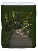 Stairway In Nature Duvet Cover