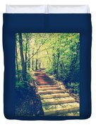Stairway Into The Forest Duvet Cover