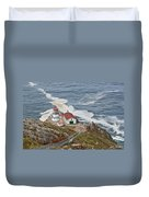 Stairway Leading To Point Reyes Lighthouse Duvet Cover