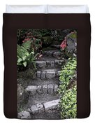 Stairway Path To Gardens Duvet Cover