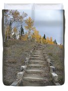 Stairway To Autumn Duvet Cover