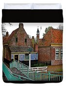 Stairway To Enkhuizen From The Dike-netherlands Duvet Cover