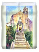 Stairway To Heaven In Llansa Duvet Cover