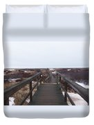 Stairway To The Atlantic Duvet Cover