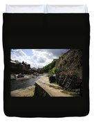 Staithes Harbour Duvet Cover