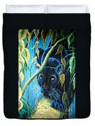 Stalking Black Panther Duvet Cover