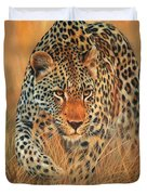 Stalking Leopard Duvet Cover by David Stribbling