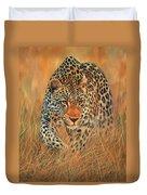 Stalking Leopard Duvet Cover