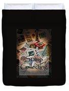 Stamp Colleting Duvet Cover