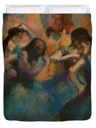 Standing Ballerinas Duvet Cover by Lauren Heller