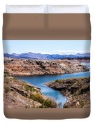 Standing In A Ravine At Lake Mead Duvet Cover