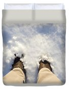 Standing In The Snow Duvet Cover