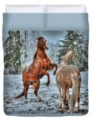 Standing In The Snow Duvet Cover by Skye Ryan-Evans